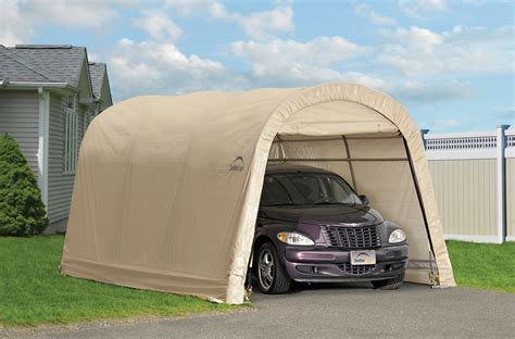 Portable Garage Shelters by Autoshelter Roundtop 174 10x15 Portable Garage Creative