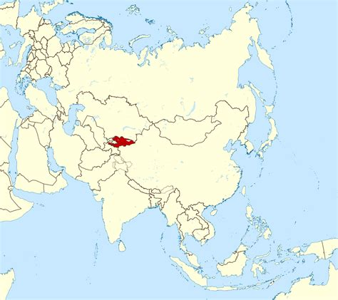 kyrgyzstan in world map large location map of kyrgyzstan in asia kyrgyzstan