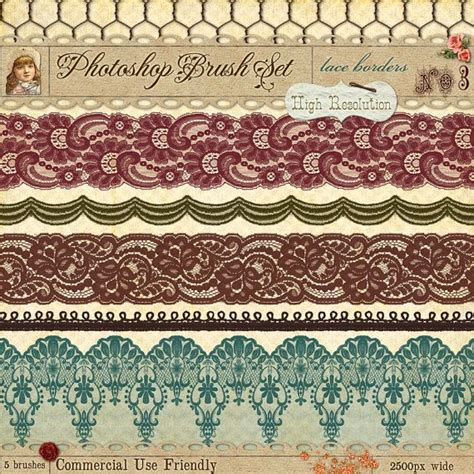 lace templates for photoshop lace borders no 3 photoshop brushes french lace