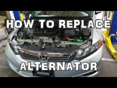 service manual how to replace alternator on a 1995 gmc suburban 2500 new alternator fits 2012 honda civic alternator replacement youtube