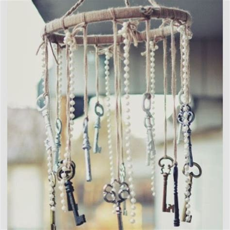 14 diy projects that will make you want to go outside vintage style antique keys and mobiles