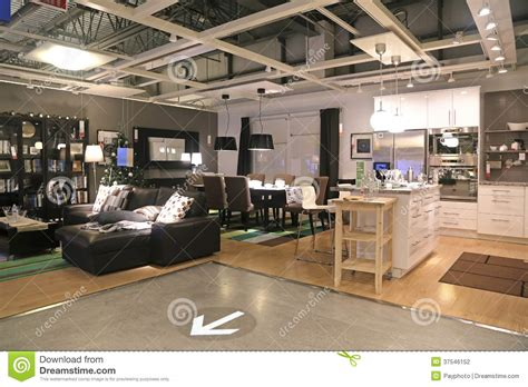 Ikea Furniture Catalogue show room inside ikea store editorial photography image