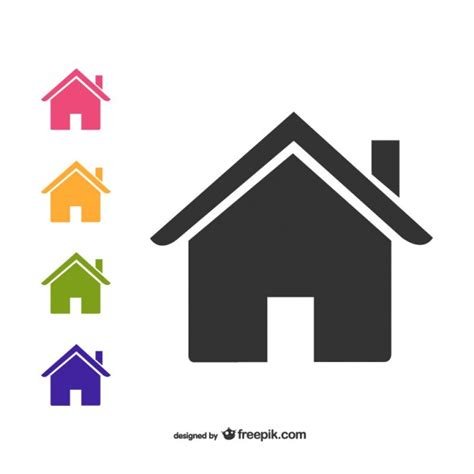 haus icon house icons pack vector free vector in ai