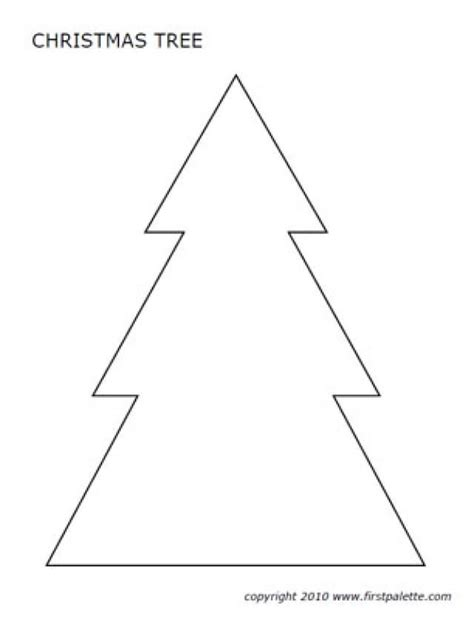 free printable christmas tree shapes cut and paste shape patterns puzzle and printable lesson