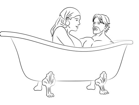 bath time coloring page coloring pages