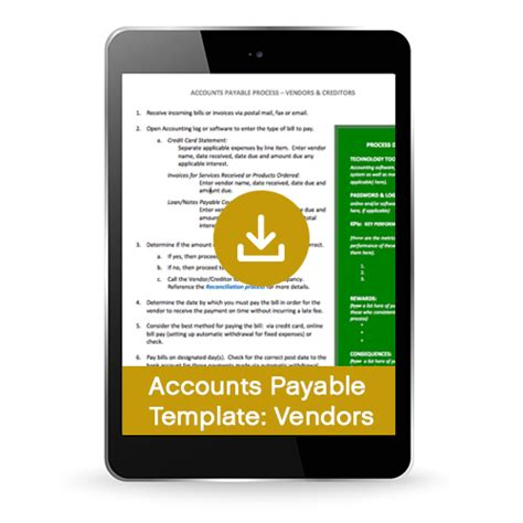 Accounts Payable Process Template For Vendors Creditors Premium Equilibria Inc Accounts Payable Procedure Template