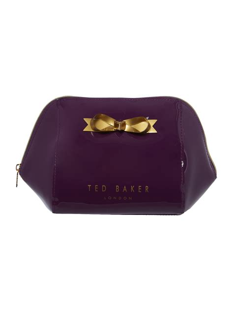 Bow Cosmetic Bag ted baker tillies purple large bow cosmetic bag in purple