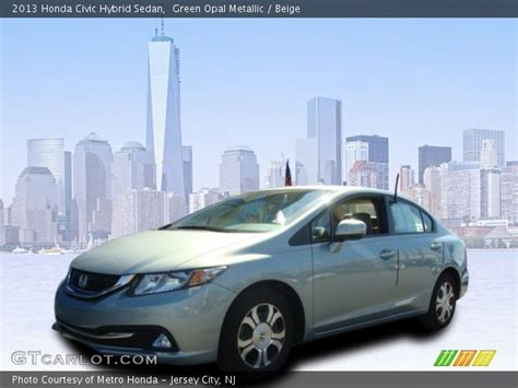 green opal car green opal metallic 2013 honda civic hybrid sedan