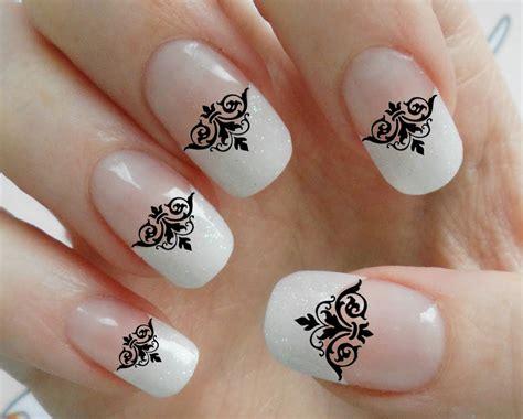 Nail Blacklace 63 black lace damask nail tips megapack dmt by