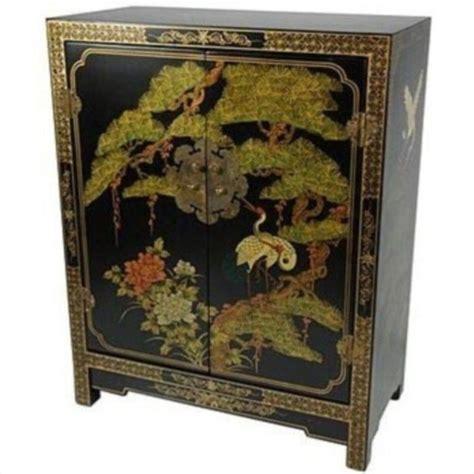oriental accent l company oriental furniture black lacquer accent chest in black