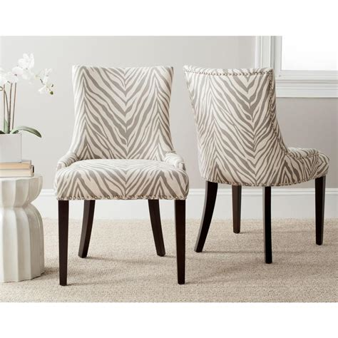zebra print dining room chairs home decorators collection hyde ash grey wood dining chair