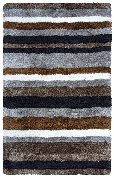 grey striped area rug commons multi stripe pattern area rug in gray brown black white 5 x 8