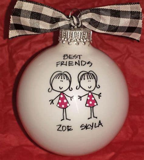 best friends ornaments best friend ornament personalized friend ornament