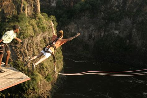 gorge swing zambia high wire activities in falls