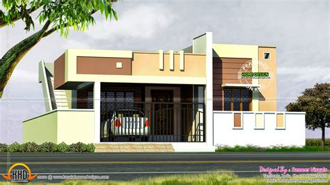 Tamilnadu Home Kitchen Design by Small Tamilnadu Style House Kerala Home Design And Floor