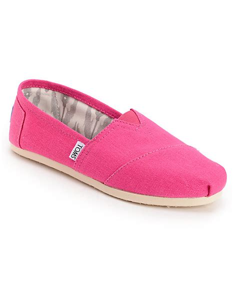 toms classics earthwise pink vegan womens shoes at zumiez