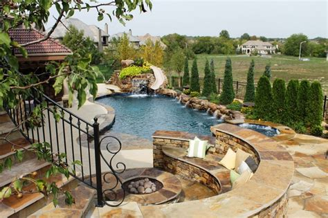 backyard living pools backyard living eclectic pool kansas city by banks