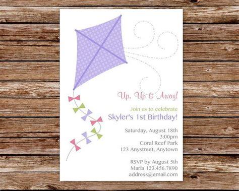 printable kite invitations kite invitation kite birthday invitation for girls park