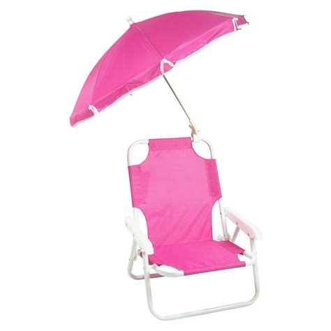 new children s folding chair with umbrella pink