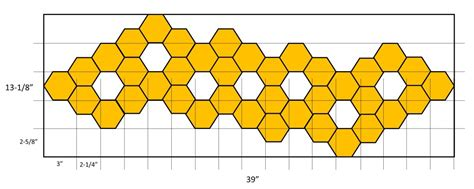 hex pattern generator hexagon table runner project ancora craftsancora crafts