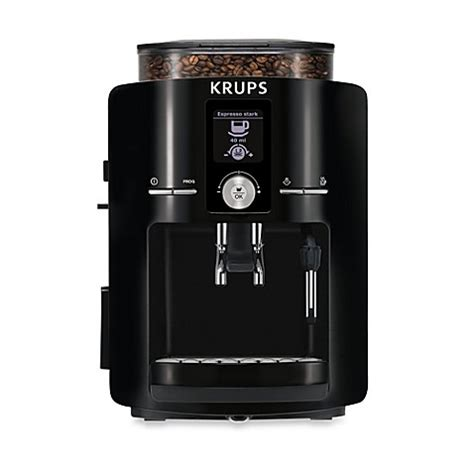 bed bath and beyond espresso krups 174 espressaria ea825000 full auto espresso machine