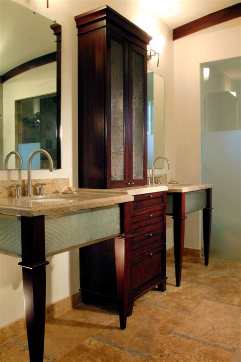 bathroom storage vanity 18 savvy bathroom vanity storage ideas hgtv