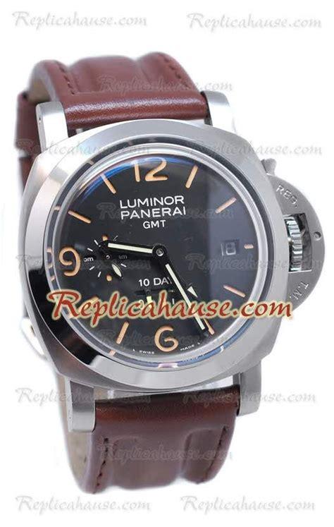 Panerai Luminor Gmt Brown panerai luminor gmt 10 days brown leather reloj rhsp2423