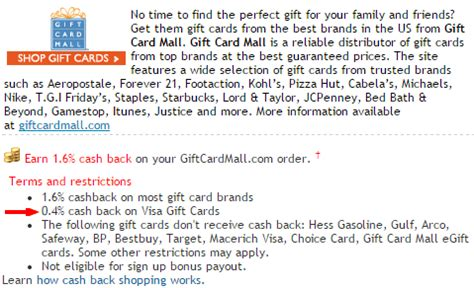 Visa Gift Card Denominations - get portal cashback for visa gift card purchases through gift card mall frequent miler