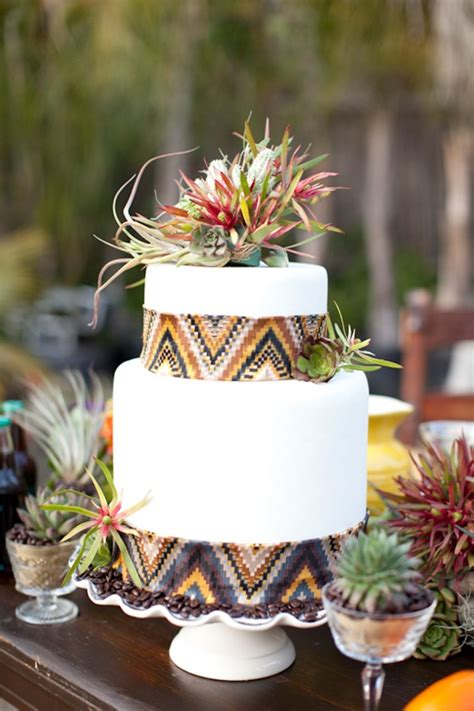How To Make Wedding Decorations At Home cake love an aztec inspired bohemian wedding cake with