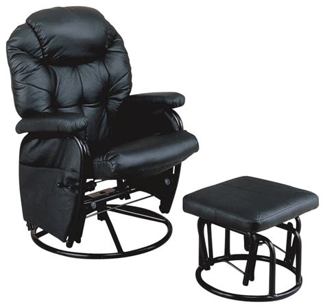 rocker recliner with ottoman monarch specialties black metal swivel rocker recliner