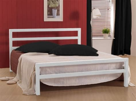 time living city block 3ft single white metal bed frame by