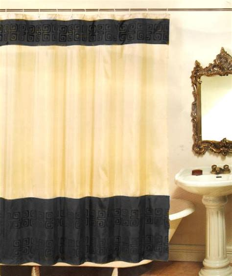 black and beige shower curtain beige black abstract bath fabric shower curtain rings ebay