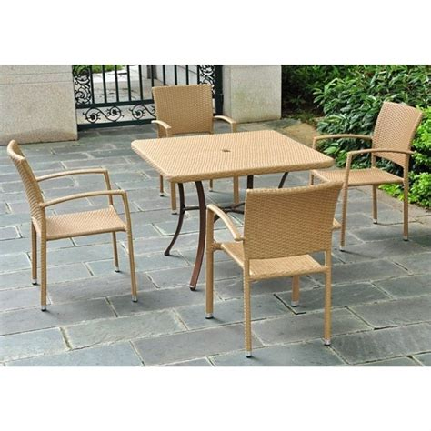 outdoor patio furniture barcelona 39 quot wicker dining table