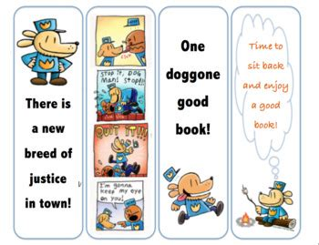 printable bookmarks of dogs dog man bookmarks by jenael weist teachers pay teachers