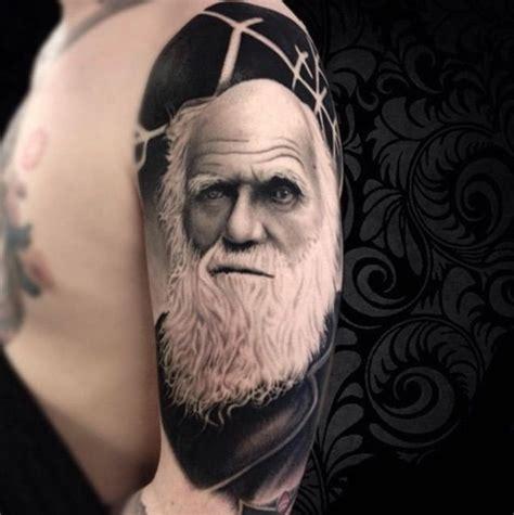darwin tattoo charles darwin by alex spooky darwin