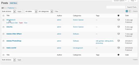 membuat link kategori di wordpress tutorial wordpress bagian 6 cara membuat menu di wordpress