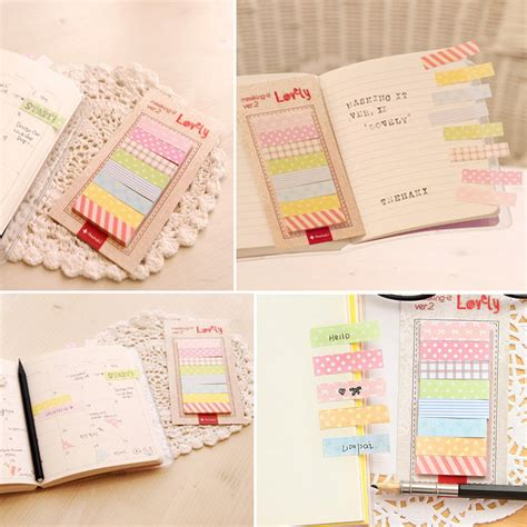 Sticky Memo Page Marker lovely 160 sticker flags bookmark page marker memo index