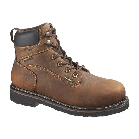 wolverine steel toe boots wolverine 6 quot brek durashocks waterproof steel toe boot