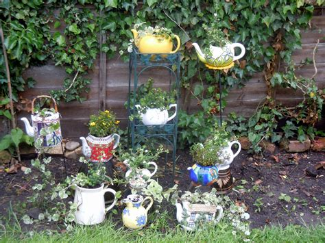 upcycled teapot planters re creations project