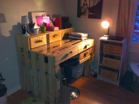 palette bureau un bureau en palettes margal