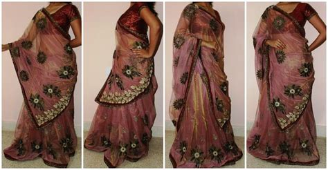 how to drape a saree like a lehenga 8 different ways to drape saree dornish costume design