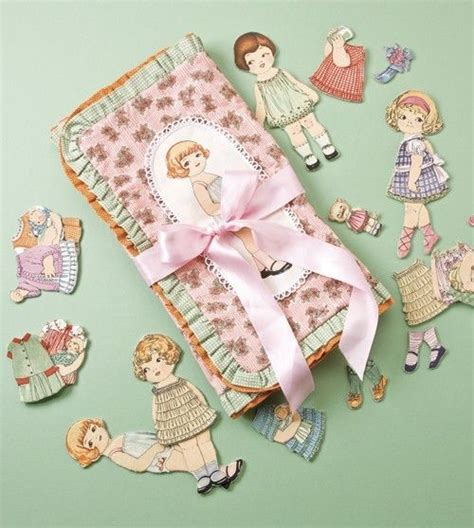 How To Make Fabric Paper Dolls - dolly travel carrier paper doll fabric sewing kit w