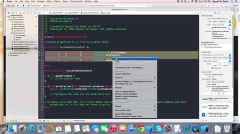 uitableview tutorial xcode 6 ios uitableview with custom cell xcode 6 1 youtube