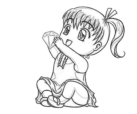 free cute cute chibi coloring pages