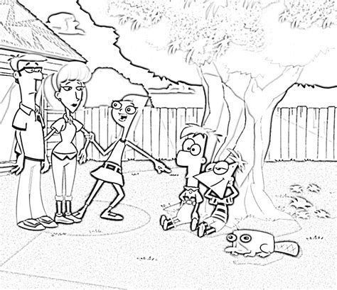 printable coloring pages phineas and ferb phineas and ferb coloring pages elijah