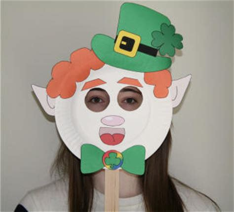 printable leprechaun mask leprechaun paper plate craft