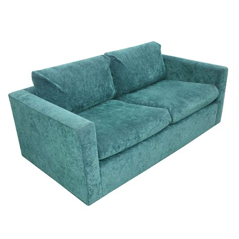 green settee vintage knoll pfister style settee love seat sofa couch ebay