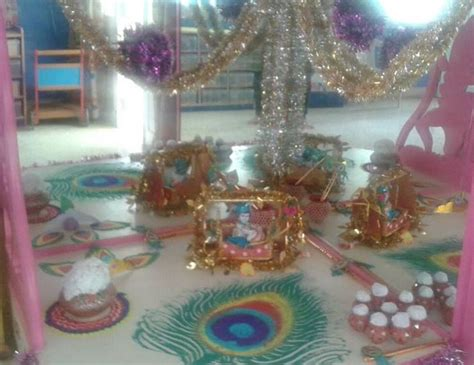 how to decorate janmashtami at home krishna janmashtami jayanthi gokul ashtami decoration
