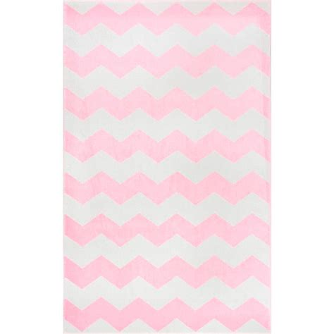 pink chevron area rug nuloom aponte chevron pink 5 ft 3 in x 7 ft 9 in area rug rzpl01c 53079 the home depot
