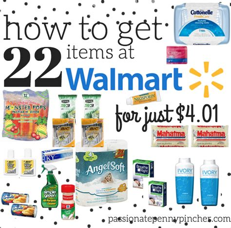 Can You Buy Stuff Online With A Walmart Gift Card - walmart scenario 22 items at walmart just 4 01 passionate penny pincher
